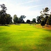 Sports Art - Beautiful Day #golf #fairway#iphone5 by Scott Pellegrin