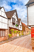 English Cottages Prints - Beautiful Day In An Old English Village - Lacock Print by Mark E Tisdale
