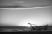 Jet Star Photo Metal Prints - Beautiful Disaster BW Metal Print by Michael Ver Sprill