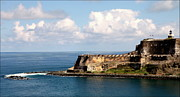 Puerto Rico Framed Prints - Beautiful El Morro Framed Print by Karen Wiles