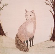 Fox Pastels Prints - Beautiful Fox Print by Christine Corretti