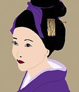 Kate Farrant - Beautiful Geisha in Purple