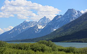 Carol Groenen Framed Prints - Beautiful Grand Tetons with Lake Framed Print by Carol Groenen