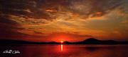 Surises Prints - Beautiful Heaven -  Sunrise Panorama Print by Geoff Childs