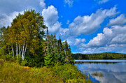 Fir Trees Photos - Beautiful Lake Abanakee - Indian Lake New York by David Patterson
