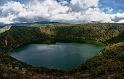 Peaceful Scene Prints - Beautiful Lake Guatavita Print by Jess Kraft