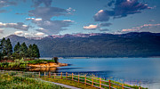 Layered Prints - Beautiful Lake View Print by Robert Bales