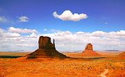 States Pyrography Posters - Beautiful Landscape of  Monument Valley Arizona Poster by Katrina Brown