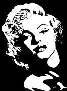 Beautiful Marilyn Monroe Original Acrylic Painting Print by Georgeta  Blanaru