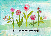 Cheery Mixed Media Posters - Beautiful Morning Poster by Carla Parris