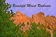 Abraham Lincoln Pictures Metal Prints - Beautiful Mount Rushmore Poster Metal Print by John Malone