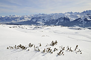 Lots Of Snow Prints - Beautiful mountain landscape in winter Print by Matthias Hauser