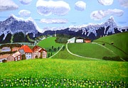 Snow Scene Painting Originals - Beautiful Norway by Magdalena Frohnsdorff