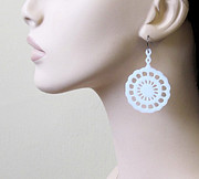 Silhouettes Jewelry - Beautiful Original lace flower earrings by Rony Bank