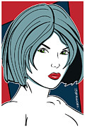 Patrick Nagel Posters - Beautiful Pinup 2 Poster by Ed Hernandez