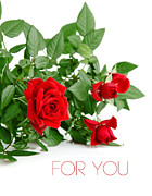 International Floral Delivery Prints - Beautiful Red Roses For You Print by Boon Mee