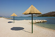 Sea View Art - Beautiful Remote Beach near Trogir in Croatia by Kiril Stanchev