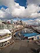 Seattle Waterfront Framed Prints - Beautiful Seattle Sky Framed Print by Mike Reid