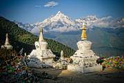 Tibetan Buddhism Photo Metal Prints - Beautiful Snow Mountain - Meili Xue Shan Metal Print by James Wheeler