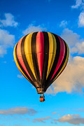 Balloon Aircraft Framed Prints - Beautiful Stripped Balloon Framed Print by Robert Bales