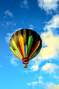 West Wetland Park Posters - Beautiful Stripped Hot Air Balloon Poster by Robert Bales