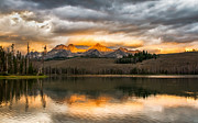 Awesome Prints - Beautiful Sunrise On Little Redfish Lake Print by Robert Bales