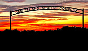 Layered Framed Prints - Beautiful Sunset And Emmett Sport Comples Framed Print by Robert Bales