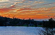 Beautiful Sunset At Lake Clear Lake Washington Print by Valerie Garner