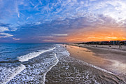 Gold Coast Prints - Beautiful Sunset Over Tybee Island Print by Mark E Tisdale
