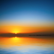 Sunset Prints - Beautiful Sunset Over Water Print by Colin and Linda McKie