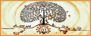Warli Paintings - Beautiful Tree of Life by Anjali Vaidya