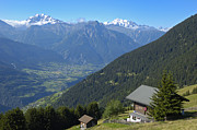 Chalet Posters - Beautiful view from Riederalp - swiss alps Poster by Matthias Hauser