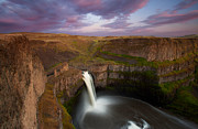 Peter Lik Posters - Beautiful Waterfall Poster by Aaron Reed