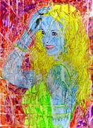 Paiting Posters - Beautiful woman - popart Poster by Zvonko Kozamernik