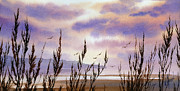 Landscape Greeting Card Painting Originals - Beautiful World by James Williamson