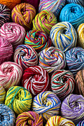 Colorful Photo Metal Prints - Beautiful Yarn Metal Print by Garry Gay