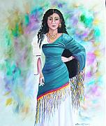 Gypsy Paintings - Beautiful Zoli by Lora Duguay
