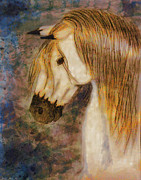 Painted Mixed Media - Beauty and Strength Golden Mane by Debbie Portwood