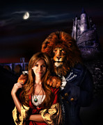 Moon Smiling Prints - Beauty and the Beast Print by Alessandro Della Pietra