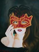 Sharon Duguay Framed Prints - Beauty and the Mask Framed Print by Sharon Duguay
