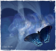 Beauty In Blue Print by Sylvia Thornton