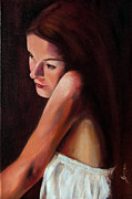 Aceo Original Originals - Beauty In The Dark by Maria Pia Guarneri