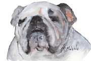 English Bulldog Paintings - Beauty In The Eyes of the Beholder  by Kathleen McElwaine