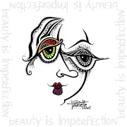 Pen Digital Art - Beauty is Imperfection by Tanielle Childers