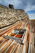 Alberta Landscape Prints - Beauty Of Barns 6 Print by Bob Christopher