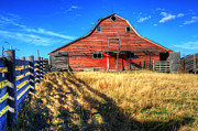 Alberta Landscape Prints - Beauty Of Barns 8 Print by Bob Christopher