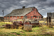 Alberta Landscape Framed Prints - Beauty of Barns 9 Framed Print by Bob Christopher