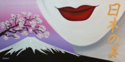 Sakura Painting Originals - Beauty of Japan by Wahine Art