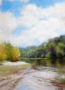 River Scenes Drawings - Beauty Of Nature  by Nancy Stutes