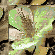 Tree Leaf On Water Mixed Media Posters - Beauty X Poster by Yanni Theodorou
